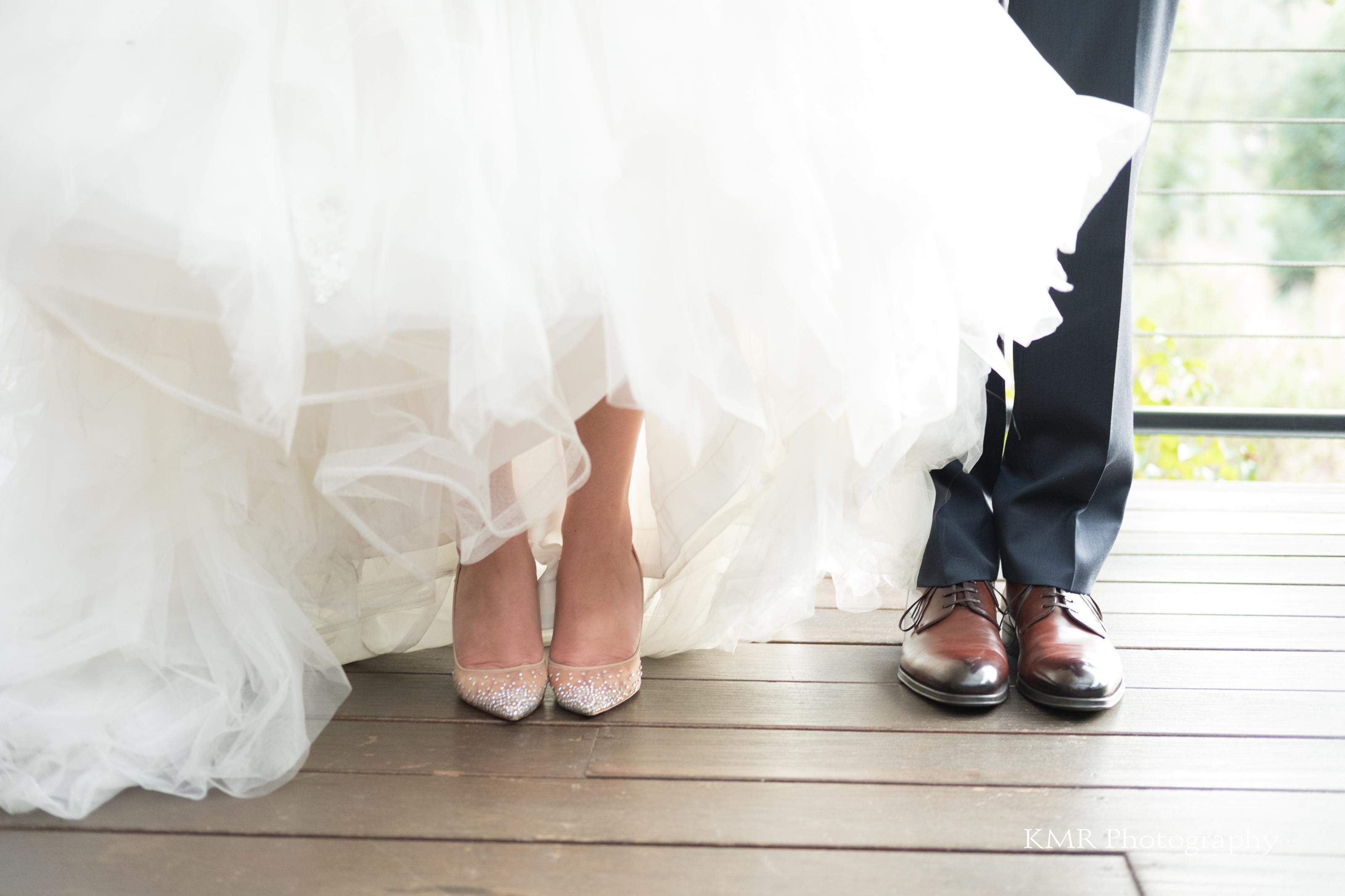Calistoga Ranch wedding couple shoes