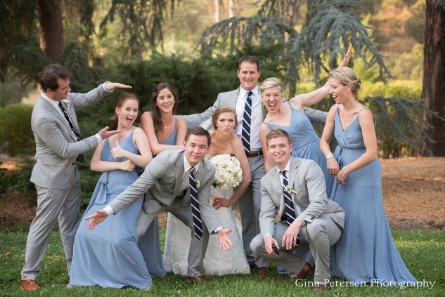 Gina Petersen Photography Silly group photo of bridal party at Napa Wedding