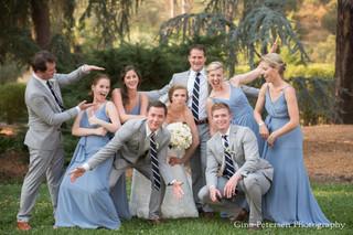 Gina Petersen Photography Silly group photo of bridal party at Napa Wedding
