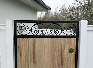 Black Powder Coated with Wood Insert and