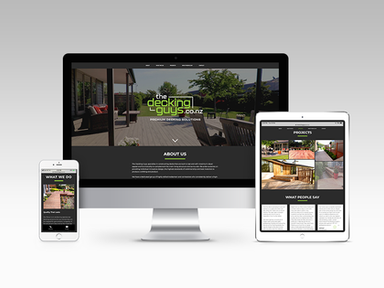 The Decking Guys website by Rubyfive Design