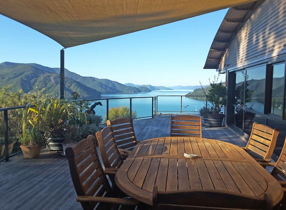 Okiwa Bay Lodge View Deck