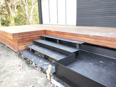 Custom build of floating steps and water