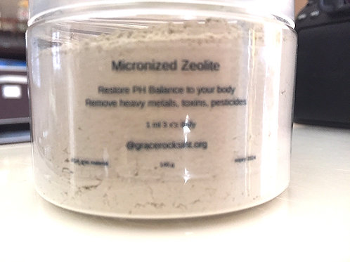 gr Micronized Zeolite Chabazite & Clinoptilolite 1 month supply