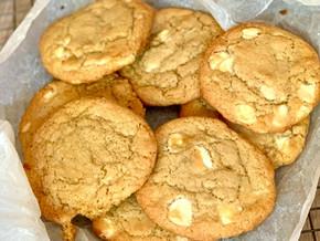 Cookies americanas de chocolate blanco
