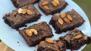Brownie en licuadora