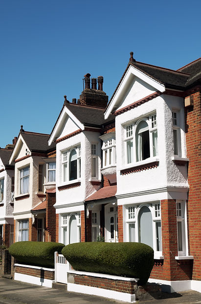Row of Typical English Terraced Houses a