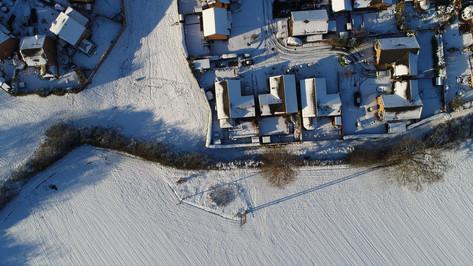 Bungalow in the snow, Wrexham