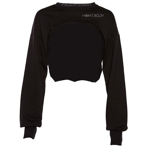 Cropped Long Sleeve Trendy Workout Sweater