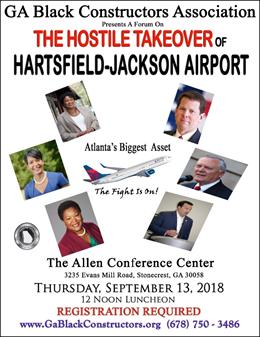 The Georgia Black Constructors Association Decries Anticipated Atlanta Airport Takeover