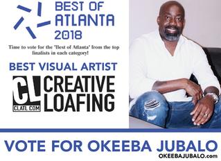 OKEEBA JUBALO NAMED BEST VISUAL ARTIST OF ATLANTA 2018