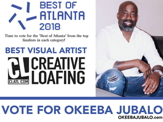 OKEEBA JUBALO NAMED BEST VISUAL ARTIST OF ATLANTA 2018