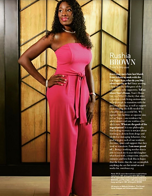 Rushia Brown Vegas Magazine