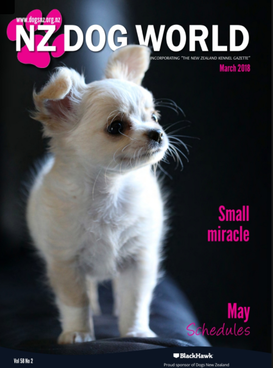 Dog World Magazine feature and cover