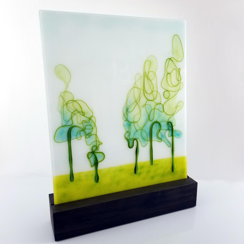 HoehnAbstractTrees GlassOakStand20x24USD