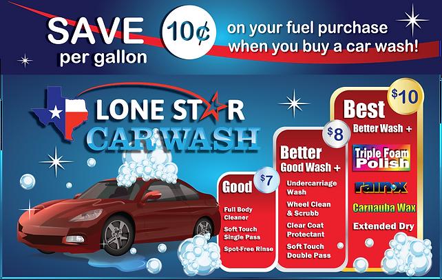Car Wash Menu