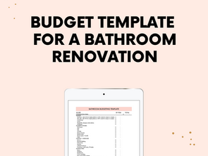 The One Room Challenge Week 3: bathroom budgeting tools and the groundwork