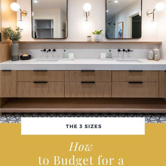 budgeting for a bathroom renovation