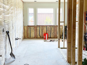 The One Room Challenge Week 4: DIY abstract art + bathroom build-back