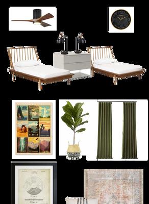 Design Plan: Our Vintage Inspired Shared Boys' Bedroom