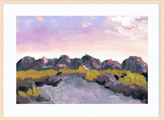Big Bend Mountains Framed
