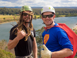 Bucks party rock climb abseil Nowra