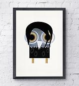 barny the owl emo art print
