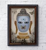 illustration budha religion art print