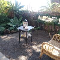 la cabaña. glamping la palma, private garden and floral mirror