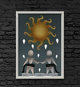 the sun tarot art print