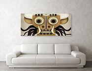 mask from bali art print