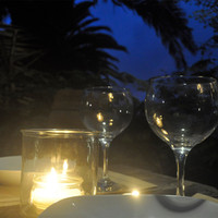 table for two, romantic supper