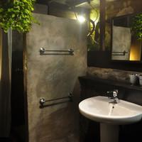 jungle bathroom by night