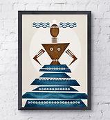 orishas art yemayá print