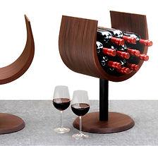 Police na vino, stojan na lahve