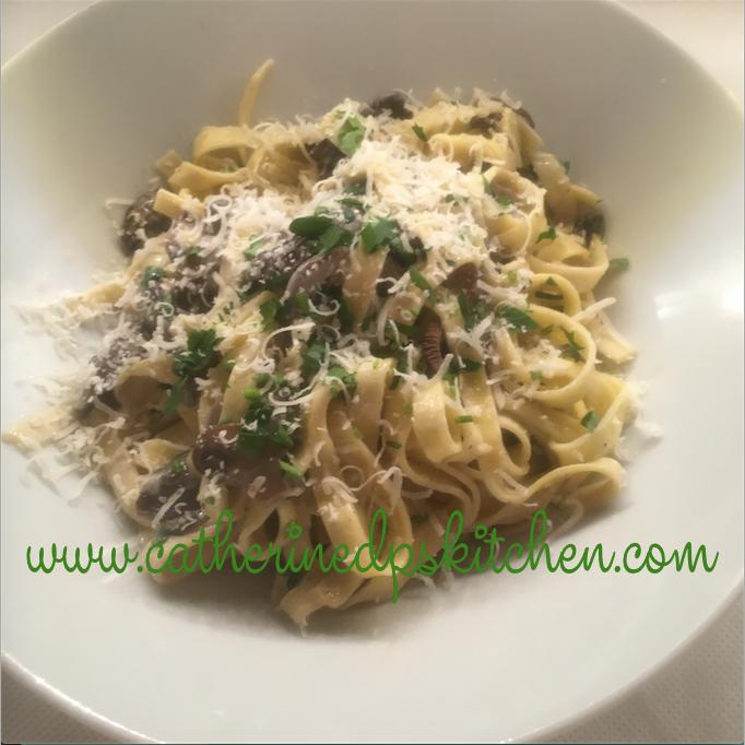 Keeping it simple - Creamy Tagliatelle & Mushrooms