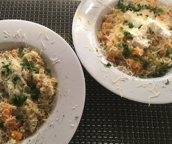 """""""Risotto"""" 2 ways - one low-carb, one traditional"""