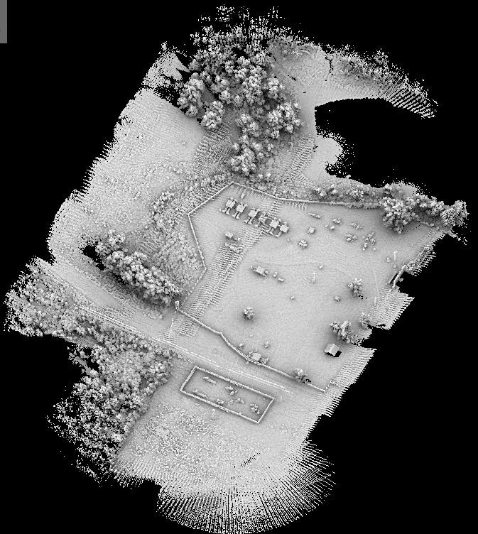 Moderately processed LiDAR point cloud