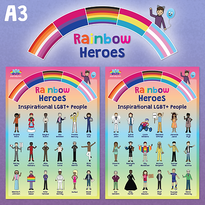 'Rainbow Heroes' Poster