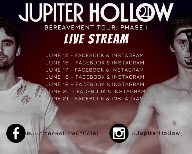 Jupiter Hollow Begins Live Stream Tour!