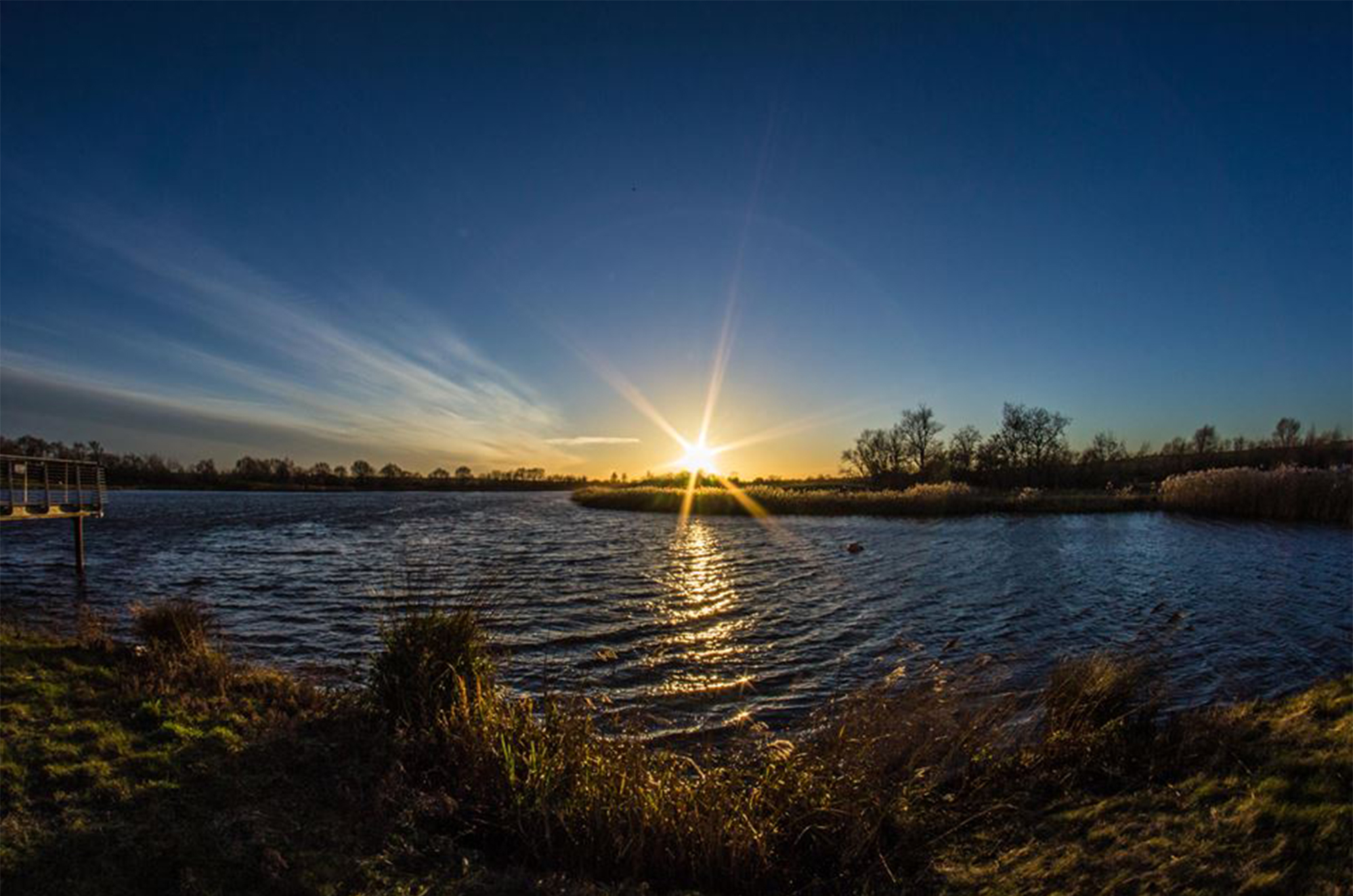 Sunset at Stanwick Lakes