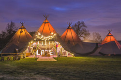 Three-Giant-hat-tipis-and-chill-out-tipi