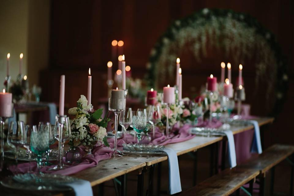 Table decoration - Something Borrowed