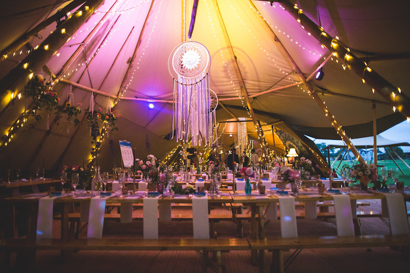 Inside the Tipis