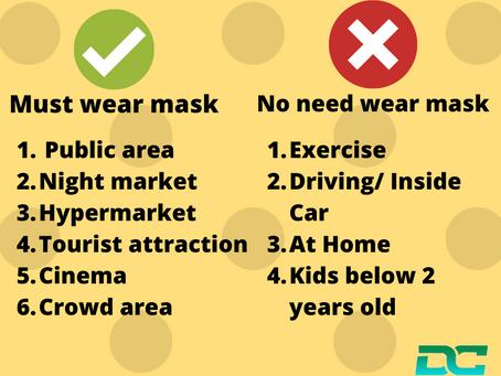 Starts 1st August it is mandatory to wear a mask in public..