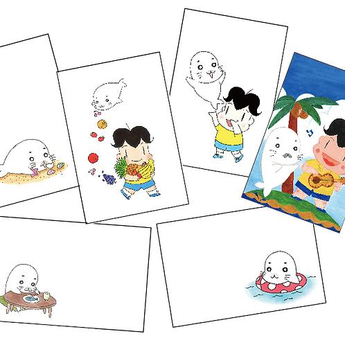 復刻イラストポストカード6枚セット