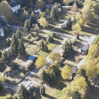 Tiny House Village Luftaufnahme