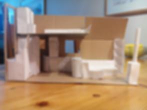 Das erste Pappmodell Tiny House