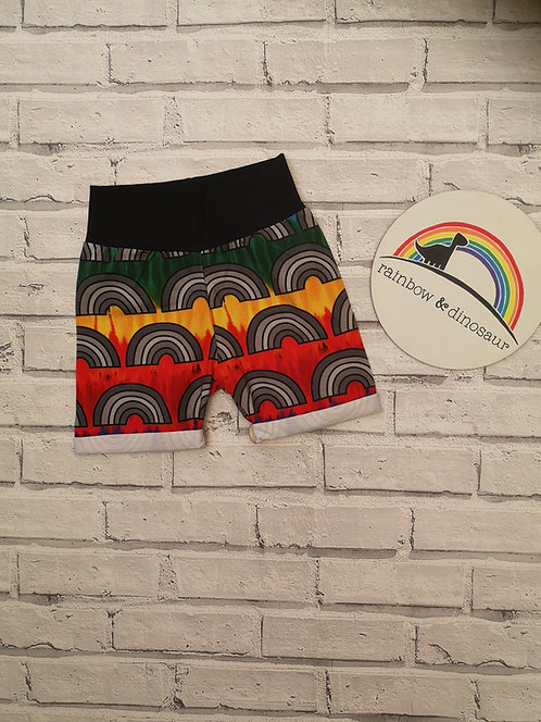 Colour Run Rainbow Shorts