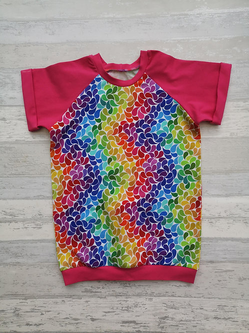 Rainbow Blossom Raglan Tshirt